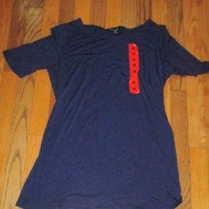 NWT Womens Navy Blue Casual Shirt Size Medium